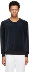 3.1 Phillip Lim Navy Velour Sweatshirt