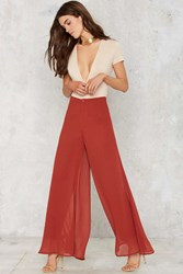 Nasty Gal Flow What Wide Leg Pants Rust