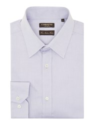 Corsivo Men's Tronto Split Herringbone Shirt Lilac