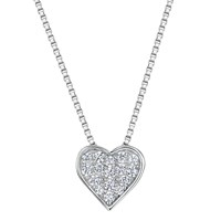 Jools By Jenny Brown Cubic Zirconia Valentine Necklace Silver
