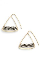 Women's Cara Triangle Stone Earrings