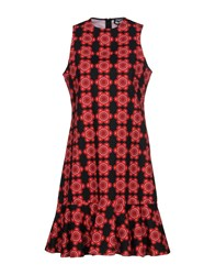 Holly Fulton Short Dresses Red