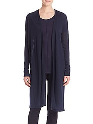 Elie Tahari Giselle Long Sleeve Knit Shrug Dark Grey Melange
