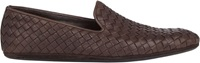 Bottega Veneta Intrecciato Venetian Slippers Brown Size 9