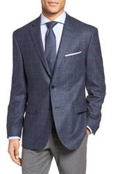 Jb Britches Men's J.B. Classic Fit Plaid Wool Sport Coat