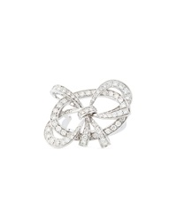 Luca Carati Diamond Ring With Bow Detail Size 7