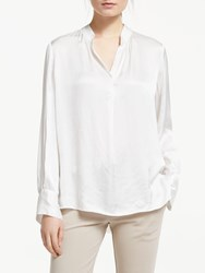 Winser London Satin Front Blouse Ivory