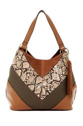 French Connection Cruz Faux Leather Tote Brown