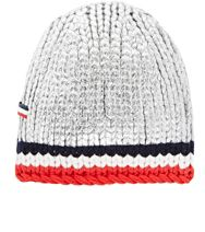 Moncler Gamme Bleu Tipped Chunky Cashmere Beanie Silver