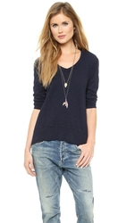 Wilt V Neck High Low Tee Blue Night