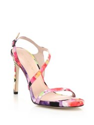 Stuart Weitzman Sensual Floral Evening Sandals Bright