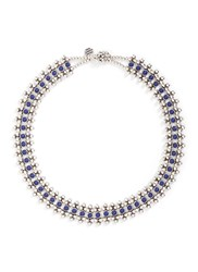 Philippe Audibert 'Han' Lapis Stone Bead Necklace Metallic Blue