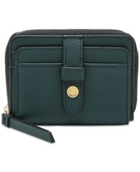 Fossil Fiona Zip Wallet Indian Teal Gold