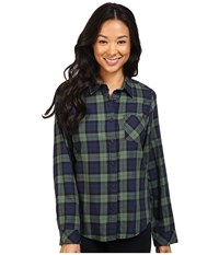 Pendleton Frankie Plaid Shirt Black Watch Tartan Women's Long Sleeve Button Up