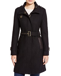 Cole Haan Wool Trench Coat Black