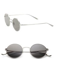 Oliver Peoples The Row The Row For Oliver Peoples After Midnight 49Mm Round Titanium Sunglasses Grey