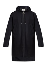 Acne Studios Melt Cotton Hooded Jacket Navy