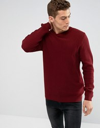 Tokyo Laundry Reverse Knit Jumper Red