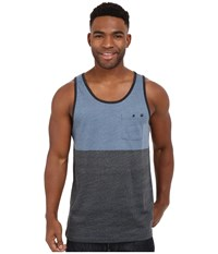 Rip Curl Split Tank Top Blue Grey Men's Sleeveless