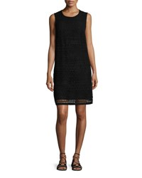 Gottex Pearl Goddess Crochet Coverup Dress Black