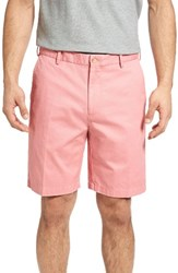 Peter Millar Men's 'Winston' Washed Twill Flat Front Shorts Vintage Pink