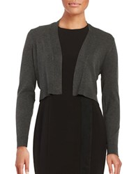 Calvin Klein Open Front Cardigan Charcoal
