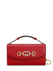 Gucci Mini Zumi Shibuya Leather Chain Bag Hibiscus Red