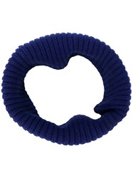 Dorothee Schumacher Snood Knitted Scarf Blue