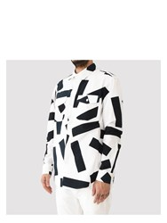 Julien David Printed Shirt White