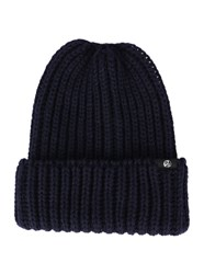 Paul Smith Navy Ribbed Woollen Hat Blue