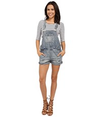 Blank Nyc Denim Short Overalls Denim Blue Women's Overalls One Piece