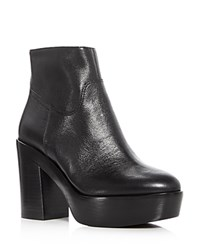 Ash Dakota High Heel Platform Booties Black
