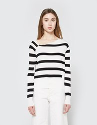 Cheap Monday Rubble Knit In White Stripe