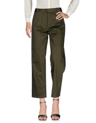 Attic And Barn Casual Pants Military Green