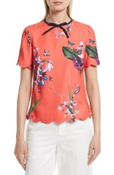 Ted Baker Women's London Syndi Top Mid Red