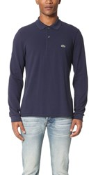 Lacoste Long Sleeve Classic Polo Shirt Navy Blue