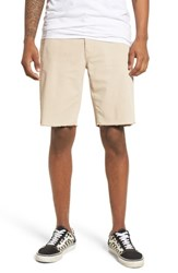 The Rail Frost Wash Shorts Beige Mojave