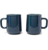 Toast Living H.A.N.D Set Of Two Porcelain Mugs Gray