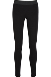 Michael Michael Kors Faux Leather Trimmed Stretch Ponte Leggings