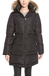 Women's Pajar 'Cougar' Down Parka With Genuine Coyote Fur And Genuine Rabbit Fur Jet Black