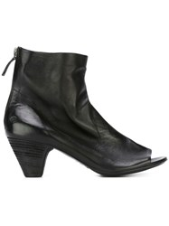 Marsell Marsell Distressed Open Toe Boots Black