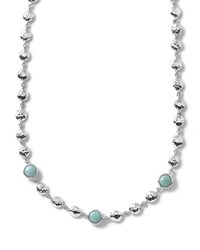 Ippolita Silver Rock Candy Short Bead And Stone Necklace Turquoise