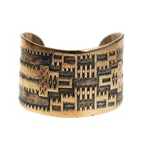 House Of Alaia All Around Me Peaceful Navajo Cuffantiqued Bronze With Clear Nano Coating