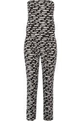 Tart Collections Brea Cutout Printed Stretch Modal Jersey Jumpsuit Black