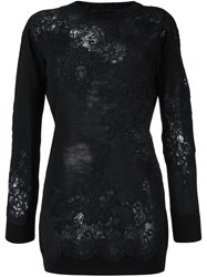 Ermanno Scervino Floral Pattern Jumper Black