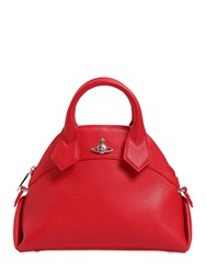 Vivienne Westwood Windsor Grained Leather Top Handle Bag Red