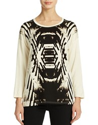 Kensie Printed Long Sleeve Top