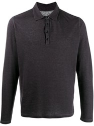 Majestic Filatures Polo Neck Sweater Grey