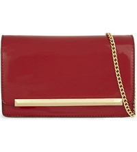Aldo Afolia Faux Patent Leather Clutch Red