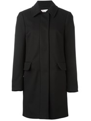 Red Valentino Stitching Detail Coat Black